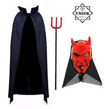 Halloween RED DEVIL COSTUME men Adult Outfit Boys Demon Fancy Dress Costume UK