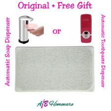 SECURE NON SLIP LOOFAH SHOWER BATH MAT PLUS FREE SOAP or TOOTHPASTE DISPENSER