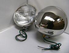 1928 1929 Ford Model A Stainless Steel Quartz Halogen 12 volt Head Lamps PAIR