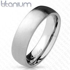 Coolbodyart Damenring Herrenring aus Titan in Silber gebürstet innen poliert ...