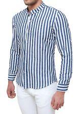 Camicia Casual Uomo ORIGINS /& CO Blu Scuro con Fantasia Floreale Maniche Lunghe