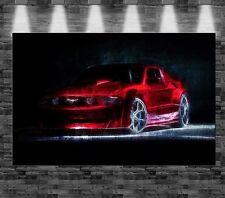XXL Ford Mustang auf Leinwand 110x70cm Loft Design Car Auto