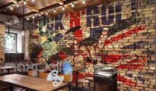 Grunge Poster Of Rock And Roll Brick Wall  Art Wall Murals Wallpaper Decals Prin