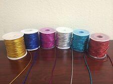 1.5mm x 50 Yards (150 FT) Metallic Elastic Stretch Tie Cords Trim Jewelry Cord