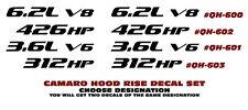 QH-600 601 602 or 603 2010-14 CHEVY CAMARO - HOOD RISE DESIGNATION - DECAL SET