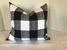 Pillow Cover Black and White Buffalo Check Design Custom Made Choose Size
