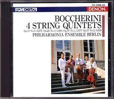 BOCCHERINI 5 String Quintet Philharmonia Ensemble Berlin DENON Japan CD 1988