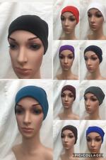 NUOVO Donna Donna Sotto Sciarpa Hijab Tubo Stretch Jersey OSSO bonnet cap