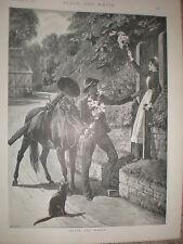 BLACK AND WHITE S e WALLER vecchia stampa 1894