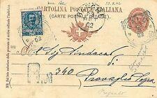 ITALIA REGNO - INTERO POSTALE con annullo SALO'  - 1902 : AFFRANCATURA MISTA