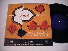"""Fela Sowande Paris in Song 1953 10"""" Mono Import LP VG+"""