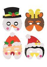 Christmas Masks Eva Foam Fancy Dress Party Childrens Adult Mask Santa Snowman