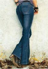 4Wards Pantalones Vaqueros Bootcut Gr.34 L32 Nuevo Mujer Stretch Oscuro Azul