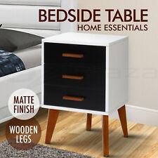 Bedside Table Scandinavian Side Night Table Unit Cabinet Matte Wooden W/B
