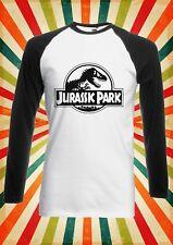 Jurassic Park Dinosaurios Mundo Hombre Mujer Largo Mangas Cortas Camiseta De Béisbol 2092