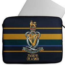 Personalised Laptop Sleeve QUEENS ROYAL HUSSARS Neoprene Case Army MC22