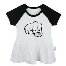 Iron Fist Design Newborn Baby Girls Dress Toddler Infant 100% Cotton Clothes