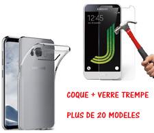 Coque TPU + Film Vitre Verre Trempé Samsung Galaxy S/A3/A5/A7/A8/J1/J3/J5/J7 ...