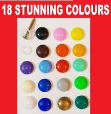 22 COLOURS PLASTIDOME PLASTIC DOME SCREW CAP COVER SHOP FITTING DECOR + £5 GIFT