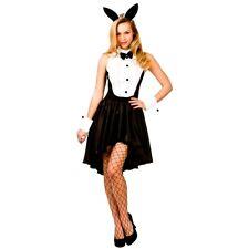 Adult Stylish BUNNY HOSTESS Maid Fancy Dress Rabbit Ladies Costume UK Sizes 6-24
