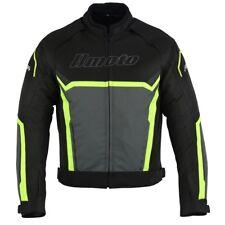 Veste Moto Textile Homme Toutes Saisons Noir-Fluo Veste d'été Biker pour homme