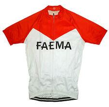 FAEMA RETRO VINTAGE CYCLING TEAM BIKE JERSEY - (Eddy Merckx)