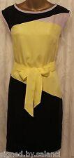 Karen Millen Soft Colourfull Colour Block Panel Belt Shift Party Dress 8 to 10
