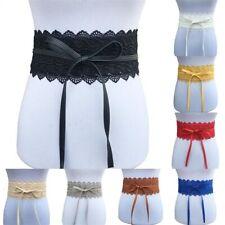 Buckle Wide Lace Waistband Women Waist Belt Bow Elastic Cinch Wide Corset