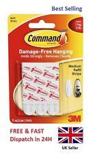 3M Command Hanger Hook Strip Medium Replacement Refill Picture Hook Strip CHEAP!