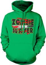 Zombie Slayer Knife Blood Dead Walking Undead Kill Eat Brains Hoodie Sweatshirt