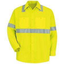 Red Kap Reflective Class 2 Long Sleeve Work Shirt - Yellow