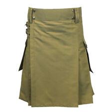 Tartanista Khaki Heavy Cotton Utility/Wilderness Kilt For The Active Man 30-54