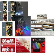 Christmas Light LED 20 Single Colour Lights,SnowFlake Lights,Ginger Bread Light