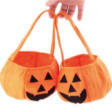 Non Woven Halloween Pumpkin Candy Handbag Trick Or Treat Handbags Bucket Jian