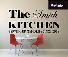 Cucina personalizzata stabilita in... Citazione Vinile Muro ARTE
