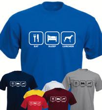 Eat Sleep Lurcher Dog New Funny T-shirt