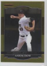 2008 Razor Signature Series Metal Gold #BA-AC Aaron Crow Washington Nationals