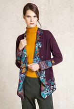 IVKO Merino-Wolle Jacke jacket intarsia Patternbraun-rot boredaux wool 62707