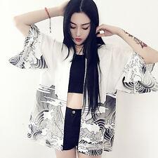 Japanese Harajuku Fashion Sweet Lolita Kimono Loose Print Bathrobe Jacket Coat