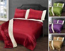 Faux Silk Pleated Stripe Duvet Cover Bedding Set  Bedding Pillowcases Runner