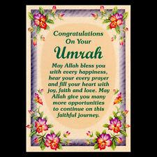 UMRAH MUBARAK Congratulations Greeting Cards Islamic Muslim Gifts