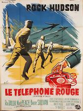 AFFICHE FILM LE TELEPHONE ROUGE PAR GRINSSON - 1963