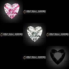 Romantic HEART cut shape Russian DIAMOND SIMULANT solitaire fancy COLOUR loose