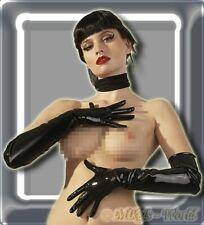 Dessous - Extralange Latex Handschuhe schwarz