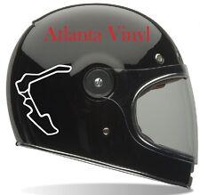 Pittsburgh International Raceway Track Decal Outline Vinyl Helmet Macbook iPad