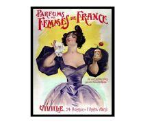 Perfums femmes de france retro vintage style metal wall plaque sign