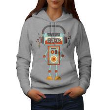 Robot Lindo Mujer Con Capucha Nueva | wellcoda