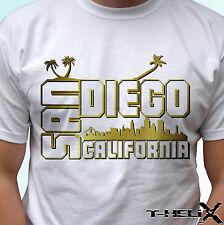 San Diego-Blanco T Shirt Top Diseño de país de Estado de EE. UU. para Hombre Para Mujer Kids & Baby