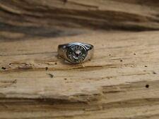Stainless Steel 9 Caliber Bullet Ring. (Nickel 9)  Optional Crystal.
