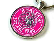 Game of Thrones Khaleesi Targaryen Hot Pink Dragon ID tag CUSTOM pet tag dog cat